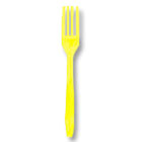 Click for larger picture of LT YELLOW FORK 24CT PARTY SUPPLIES