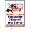 PARAMEDICS PERSONALIZED YARD SIGN PARTY SUPPLIES