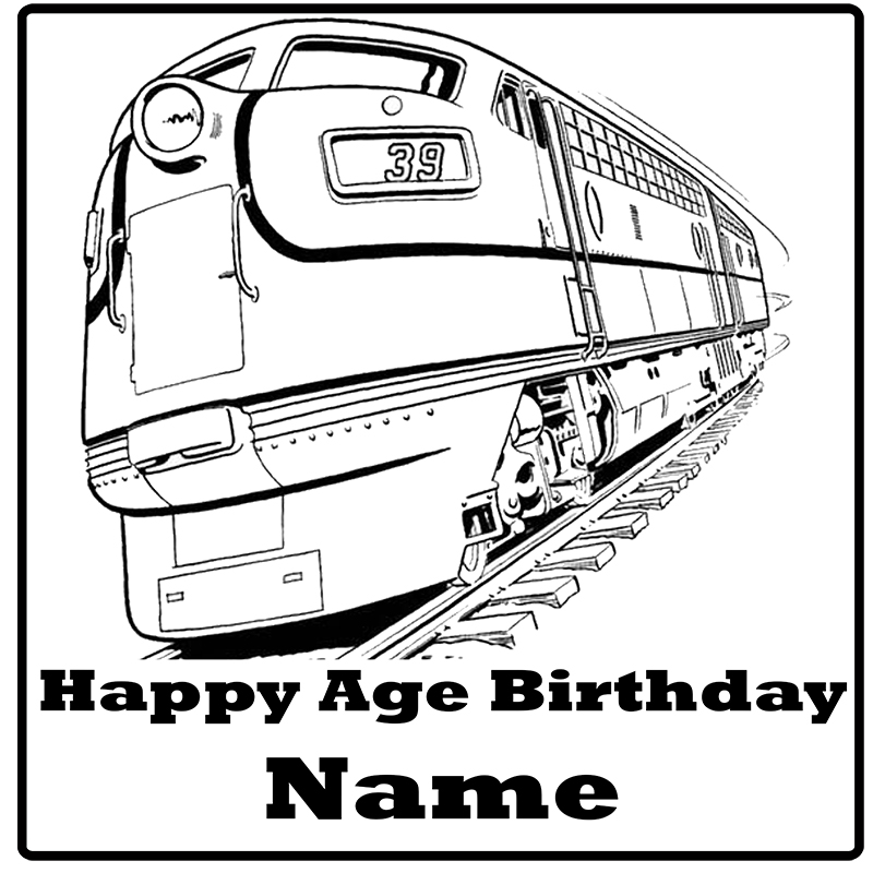 Click for larger picture of PASSENGER TRAIN CUSTOM DECORATION PARTY SUPPLIES
