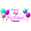 PERSONALIZED PASTEL BALLOON BANNER PARTY SUPPLIES