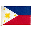 PHILIPPINES HANDHELD FLAG (4X6 IN.) PARTY SUPPLIES