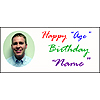BIRTHDAY SCRIPT PICTURE BANNER(18X40IN.) PARTY SUPPLIES