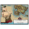 PIRATES MAP CUSTOMIZED PLACEMAT PARTY SUPPLIES