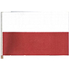 POLAND HANDHELD FLAG (4X6 IN.) PARTY SUPPLIES