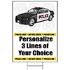 POLICE PERSONALIZED YARD SIGN PARTY SUPPLIES