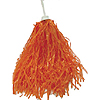 VINYL ROOTER POM-POM ORANGE  (24/CS) PARTY SUPPLIES