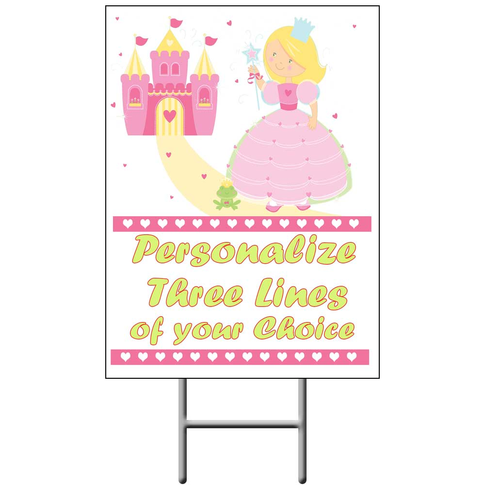 Click for larger picture of PRINCESS YARD SIGN PARTY SUPPLIES
