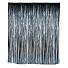 BLACK VALUE METALLIC CURTAIN 3X8FT PARTY SUPPLIES
