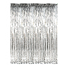 SILVER VALUE METALLIC CURTAIN 3X8FT PARTY SUPPLIES