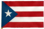 PUERTO RICO HANDHELD FLAG (4X6 IN.) PARTY SUPPLIES