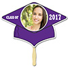 PURPLE GRAD CAP PHOTO PADDLE PARTY SUPPLIES