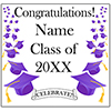 PURPLE MORTARBOARD GRAD DOOR BANNER PARTY SUPPLIES