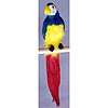 FEATHERED 20IN. PARROT (6/CASE) PARTY SUPPLIES