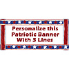 PERSONALIZED PATRIOTIC STARS BANNER PARTY SUPPLIES