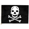 PIRATE/SKULL MUSLIN FLAG 12X18IN.(24/CS) PARTY SUPPLIES