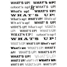 DISCONTINUED WHAT'S UP BACK GROUND STAMP PARTY SUPPLIES