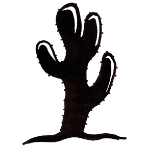 Click For Larger Picture Of DISCONTINUED LARGE CACTUS RUBBER STAMP PARTY SUPPLIES
