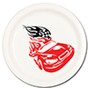 RACE CAR DESSERT PLATE(8/PKG) PARTY SUPPLIES