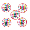 RAINBOW BIRTHDAY STICKER PARTY SUPPLIES