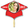 RED GRAD CAP PHOTO PADDLE PARTY SUPPLIES