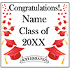 RED MORTARBOARD GRAD DOOR BANNER PARTY SUPPLIES
