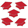 RED MORTARBOARD GRAD DECO FETTI PARTY SUPPLIES