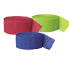 RED, LTGREEN & BLUE CREPE (SOLID COLOR) PARTY SUPPLIES