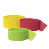 RED LT GREEN YELLOW CREPE (SOLID COLOR) PARTY SUPPLIES
