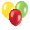 RED, LT GREEN, YELLOW BALLOONS (SOLID) PARTY SUPPLIES