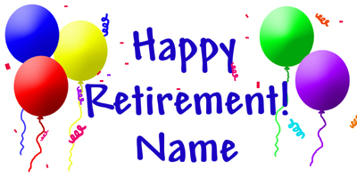 retirement decorations party supplies - personalized retirement ...
