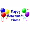 PERSONALIZED RETIREMENT BANNER PARTY SUPPLIES