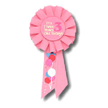 I'M 3 TODAY ROSETTE PARTY SUPPLIES