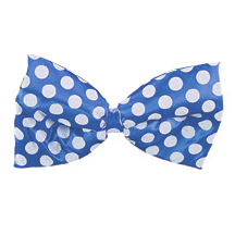 DOTTED BLUE JUMBO SATIN BOWTIE PARTY SUPPLIES