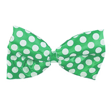 DOTTED GREEN JUMBO SATIN BOWTIE PARTY SUPPLIES