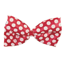 DOTTED RED JUMBO SATIN BOWTIE PARTY SUPPLIES