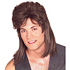 MULLET WIG-BROWN- PARTY SUPPLIES