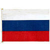 RUSSIAN REPUBLIC HANDHELD FLAG (4X6 IN.) PARTY SUPPLIES