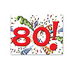 DISCONTINUED 80TH BD EXPLOSION DECORATN PARTY SUPPLIES