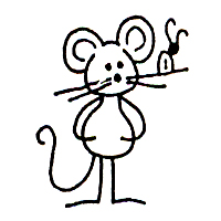 Click for larger picture of DISCONTINUED MOUSE/BUG RUBBER STAMP PARTY SUPPLIES