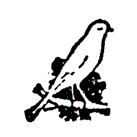 Click for larger picture of DISCONTINUED CANARY BIRD RUBBER STAMP PARTY SUPPLIES