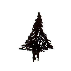 Click for larger picture of DISCONTINUED SMALL PINE TREE RBBR STAMP PARTY SUPPLIES