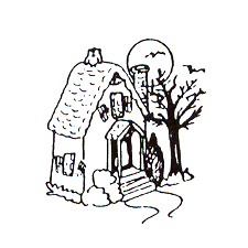 DISCONTINUED SMALL HAUNTED HOUSE STAMP PARTY SUPPLIES
