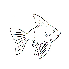 DISCONTINUED GOLDFISH RUBBER STAMP PARTY SUPPLIES