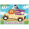SAFARI ADVENTURE CUSTOMIZED PLACEMAT PARTY SUPPLIES