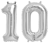 10 SILVER MYLAR BALLOONS (16 INCH) PARTY SUPPLIES
