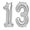13 SILVER MYLAR BALLOONS (34 INCH) PARTY SUPPLIES