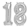 18 SILVER MYLAR BALLOONS (34 INCH) PARTY SUPPLIES