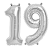 19 SILVER MYLAR BALLOONS (34 INCH) PARTY SUPPLIES