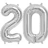 20 SILVER MYLAR BALLOONS (34 INCH) PARTY SUPPLIES