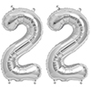 22 SILVER MYLAR BALLOONS (34 INCH) PARTY SUPPLIES